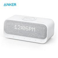 Soundcore Wakey Bluetooth Hoparlörler Powered by Anker ile çalar saat, stereo ses, FM radyo, beyaz gürültü LJ201027