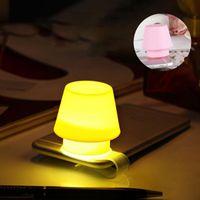 Creative cadeau silicone téléphone portable Support Veilleuse Abat multi-fonction Bookmark Chambre de chevet LED Petite lampe de table