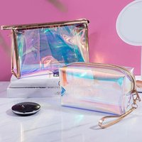Cosmetic Bag Travel Make Up Necessaries Organizer Zipper Toiletry Kit Makeup Case Pouch Transparent1