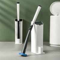 SDARISB Одноразовый туалетную жалобую кисть для чистки кисти для чистки туалетной кисти с системой очистки для ванной комнаты Туалет и кухня Clean 201214