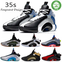 35 New Jumpman XXXV 35 Schwestern Schwerpunkt Krieger 35s Fragment Design Sepia Stein Morpho Bayou Junge Herren-Basketball-Schuhe