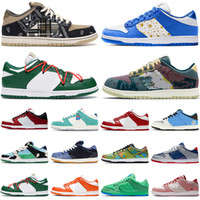 Hot Sale Mens Womens LowNewest Running Shoes Paris Royal White Chunky Dunky Sashiko Designer Brand Platform Sports Sneakers Trainers