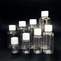 5 ml 10 ml 20 ml 30 ml 50 ml 60 ml 80 ml 100 ml heldere plastic lege flessen kleine containers fles met schroefdop voor vloeistoffen
