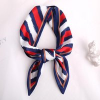 Women Silk Neck Scarf Skinny Fashion Print Hair Scarfs For L...