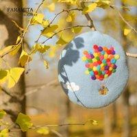 Береты Фарамита отдых в отдохнуть кино Красочный Воздушный шар Весна Женщины ручной работы Берет сказка Оригинальность Руководство девушки Детская шапка Cap1