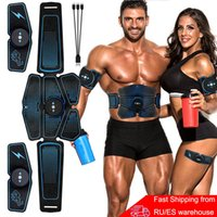 Abdominal Muscle Stimulator Trainer EMS Abs Fitness Equipment Training Gear Muscles Electrostimulator Toner Exercise At Home Gym 201026