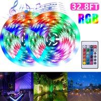 US-Stock-LED-Streifenlicht-Set 32.8ft IP65 Wasserdicht Wifi Fernbedienung Dual-Disk-40W Lichtleisten für Outdoor Decor