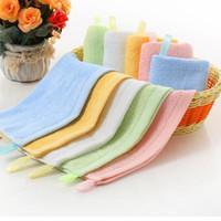 Säuglingsgesicht Handtücher Baby Bambus Faser Taschentuch Kinder Haken Square Handtuch Gesicht Handtuch Solide Wischtuch Wrap Kleinkind Lätzchen 25 * 25cm Zyy407