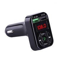 자동차 블루투스 5.0 FM 송신기 듀얼 USB 고속 충전기 3.1A AUX 자동차 키트 핸즈프리 오디오 수신기 자동 MP3 플레이어 FM Modulator1