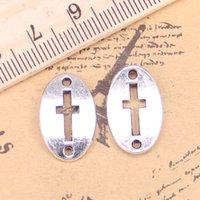 72pcs Bijoux Charms Connecteur Connecteur 13x20mm Antique Pendentifs Plaqué Argent Faire bricolage Bijoux en argent tibétain à la main DIY