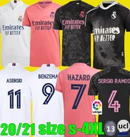 size S - 4XL REAL MADRID soccer jerseys 20 21 HAZARD SERGIO ...