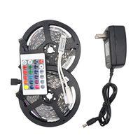 Eyumy RGB LED Şerit Işık 5050 5 M 10 M IP20 LED Işık RGB LEDS Bant LED Şerit Esnek Mini IR Denetleyici DC12V Adaptörü Seti