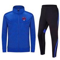 Clermont ayak 2020 ceket futbol eğitimi takım uzun bölüm özelleştirilebilir diy ekibi erkek spor koşu takım elbise eğitim takım elbise