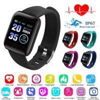 116plus Smart Armband Schritt Schlafüberwachung IP67 wasserdichte USB direkte Belastung Herzfrequenz Sphygmomanometer Fitness Tracker Bluetooth Smart