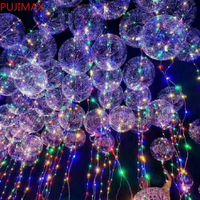 New Bobo Ball Wave Lead Line String Balloon Light с аккумулятором для рождества Хэллоуин свадьба для дома украшения дома круговой