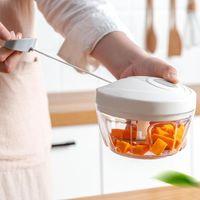 Blender 900 ml Büyük Kapasiteli Manuel Sebze Kesici Et Öğütücü Kıyma Makinesi Sarımsak Parçalanma 5 Bıçakları Mutfak İşlemcisi1