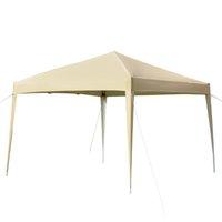 10x10ft في المنزل استخدام خيمة 3 × 3 متر الثقيلة للماء سهلة الإعداد الأيمن زاوية قابلة للطي الفناء الشمس المأوى سرادق التخييم الظل الولايات المتحدة الأسهم