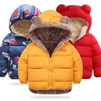 Baby 2020 Herbst Winter Mädchen Kinder Warme Kapuze Oberbekleidung für Jungenjacke Mantel Kinder Kleidung C1012