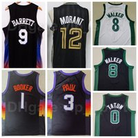 Basketball-Stadt verdiente Ausgabe Jersey Kemba Walker 8 Jayson Tatum 0 JA Morant 12 RJ Barrett 9 Devin Booker 1 Chris Paul 3