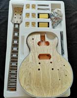 غير مكتمل 1 مجموعة diy غير مكتمل عنق الغيتار والجسم ل LP نمط الغيتار كيت كل جزء