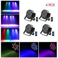 최고의 36W 36-LED RGB 원격 / 자동 / 사운드 컨트롤 DMX512 고휘도 미니 DJ 바 파티 무대 램프 * 4 고품질 무대 파