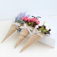 Mini Cute Kraft Paper Rose Handmade Sztuczne Kwiat Dekoracje Ślubne DIY Garland Gift Scrapbooking Craft Fake Flower1