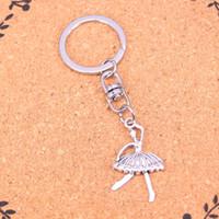 Moda portachiavi 35 * 20mm ragazza balletto ballerino pendenti di catena chiave dell'automobile Gioielli fai da te Anello porta Souvenir per regalo