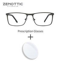 Zenottic مربع النظارات الإطار وصفة طبية النظارات البصرية المضادة للزرقاء الخفيفة photochromic النظارات التقدمية الرجال النساء النظارات
