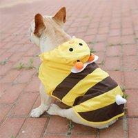 Собака дождевики желтый выброшенный милый маленький щенок дождевое пальто для больших собак домашняя одежда водонепроницаемый французский бульдог дождь х С-7XL плащ LJ200923
