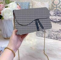 2020 3A Designer Luxus-Handtaschen-Geldbeutel Frauen-Schulterbeutel echtes Leder mit Stickereien Kreuz-Körper Sattel Handtaschen-Qualitäts-Tasche