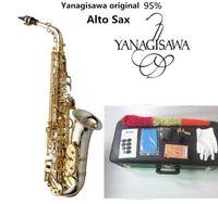 العلامة التجارية الأصلية New Yanagisawa A-WO37 ألتو ساكسفون النيكل مطلي الذهب مفتاح المهنية سوبر لعب ساكس لسان حال مع القضية والاكسسوارات
