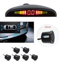 6 capteurs 22mm voiture LED rétroéclairage écran Sens de stationnement Sauvegarde arrière Radar Système de moniteur de détection ultrasonique Radar Système1