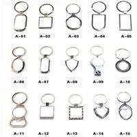 Sublimação Material em branco Keychain Keyring Personalidade DIY Desenho Quente Suprimentos Quadrado Bloqueio Fivela Fivela Ano Novo Presente 50 L2