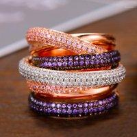 Godki Monaco Дизайн Роскошный заявление Степенное Кольцо Для Женщин Свадебные Кубический Циркон Объединение Dubai Punk Bridal Top Finger Rings1