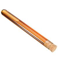 20x150mm Cancella tubi di prova in vetro borosilicato Pyrex Pyrex con tappi di sughero, tubo di vetro ad alta temperatura resistente alla temperatura, in vetro addensato, scuola di laboratorio