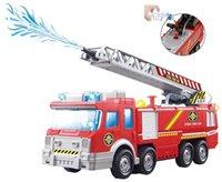 Spray de Água Toy Gun Truck Firetruck Juguetes Fireman Sam Fire Truck / motor do veículo do carro música ligeira brinquedos educativos para crianças Boy LJ200930