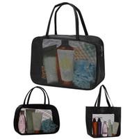 Toiletry Cosmetic Bags Mesh Travel Organizer Bags Travel Toiletry Bag Make Up Storage Bag Bathing Storage Handbag Makeup Cases