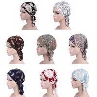 Mode Hot Femmes imprimé floral Chemo Cancer Chapeau musulman Turban tête élastique Wrap Cap écharpe perte de cheveux couverture Nouveau design 2020