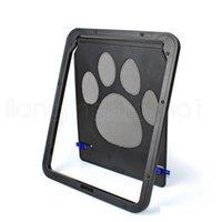 Haustierbedarf Pfotenform Drucken Anti-Bite Kleine Hündchen Hunde Katzentür für Fenster-Bildschirm Katze Furnitur Qylste Packing2010