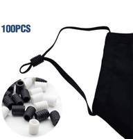 100PCS Rope Cord Locks Alterna Para Buckle Drawstrings Elastic Cord Ajustador não escorregar Stopper Silicone fixo fivela
