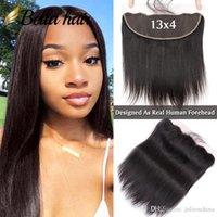 Bella Hair® HD 13x4 pre arrolicó el cierre frontal de encaje en la oreja con luz natural de la línea de cabello nudos blanqueados de nudos Virgin Hair Hair Extensions