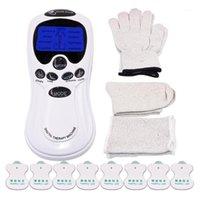 Elektrischer TENS Massagegerät Körper Akupunktur Massager Muskelstimulator Digitale Therapiemaschine 8 Elektrodenpolster Massage Socken Gloves1