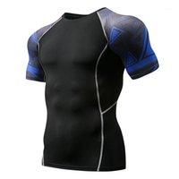 Homens camisetas Camisa de compressão dos homens camisa 3d lobo adolescente MMA apertado manga curta rápida treino seco de fisiculturismo Tee gyms tops de fitness t shirts1