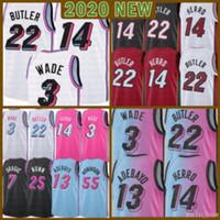 2021 New Dwayne Dwyane 3 WADE Баскетбол Джерси Джимми 22 дворецких Mens Tyler 14 Herro BAM 13 Adebayo Goran 7 Dragic Kendrick 25 Nunn Green