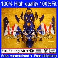 Injeção para Honda CBR 600F5 600 CC CBR600 RR 2003 2004 49HM.70 Branco azul CBR600F5 CBR600RR 03 04 CBR 600RR 600 RR F5 03 04 OEM Fairing