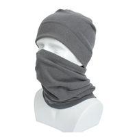 Chapéu e lenço conjunto de ciclismo máscara de rosto de lã de coelho inverno envoltório quente anel de pescoço para homens e mulheres esporte chapéus s wmtokm todo2019