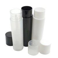5 ml boş dudak parlatıcısı tüpleri mini plastik şişe kozmetik chapstick ruj balsamı tüp kapaklar dudak parlatıcısı