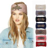 7 farben diamant gestrick häkeln stirnband frauen winter sport haarband turban yoga kopfband ohrmuffen kappe stirnbänder yya536