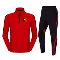 Stade Rennais Football 2020 새로운 자켓 축구 훈련 정장 긴 섹션 사용자 정의 DIY 남성 스포츠 실행 의류 교육복
