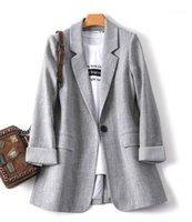 liser 2020 primavera e outono novo pequeno terno senhoras casaco solto camisa saia preto casual outono vestido vestido confortável wild work1